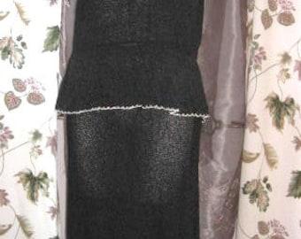 Boucle Knit Two Piece Dress 40s Vintage