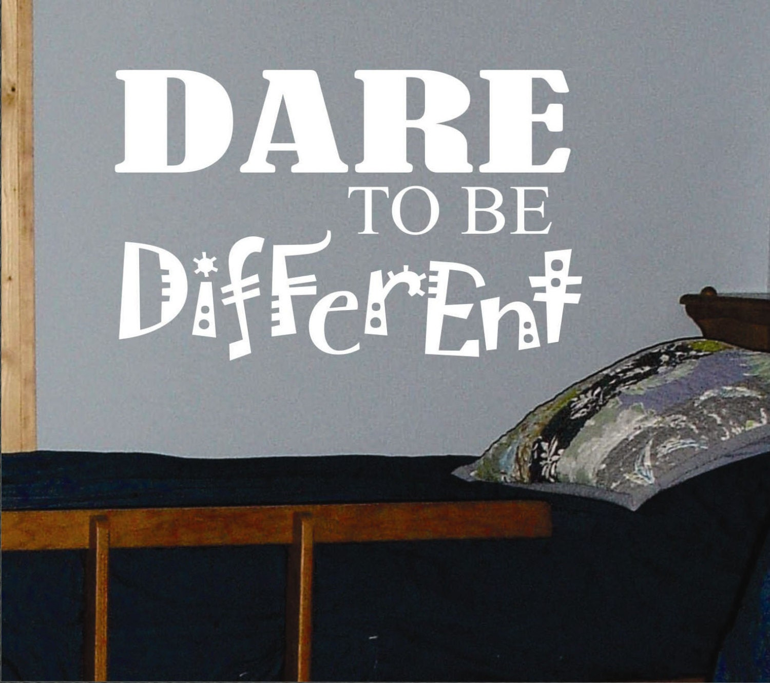 Dare Quotes: Dare To Be Different Vinyl Wall Lettering Vinyl Wall Decals