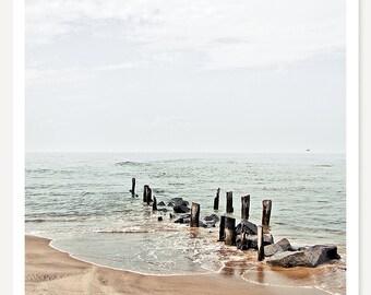 The Dock - Landscape Photography - Beach Photograph - Coastal Art - Ocean Nature Photo - Seascape Beach Art - Beach House Decor