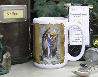 Crescent Crowned Goddess 15 oz coffee mug