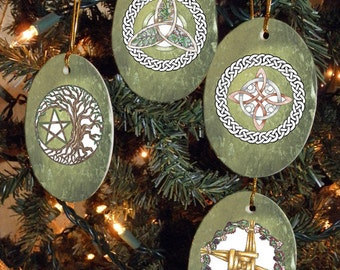 Set of Four Magical Symbols, Collection I, Yule/Winter Solstice Ornaments