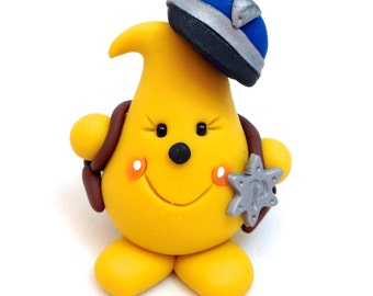 Policeman Sheriff Parker Figurine - Polymer Clay Character Figurine