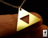 ZELDA TRIFORCE Handmade Goldplated Sterling Silver .925 Necklace in a gift box