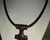 Thor's Hammer Antique Copper Celtic Pendant Necklace