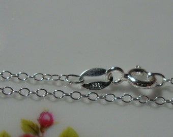"""bulk 20 pcs, 1.3x1.75mm, 16"""", 925 Sterling Silver Cable Finished Chain with Spring Clasp, anti tarnish"""