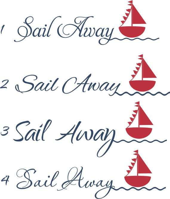 ... Nautical 36x14 Vinyl Wall Decal Decor Wall Lettering Words Quotes