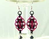 Chainmaille Jewellery, Chainmail Earrings, Helm, Choose Your Color, Copper Jump Rings