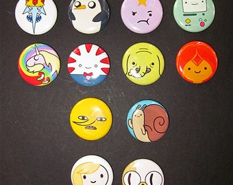 "Pick your own 1"" Adventure Time buttons"