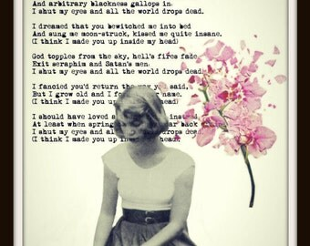 Sylvia Plath ART PRINT Mad Girl's Love Song