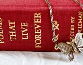 sale SALE sale FLUTTER vintage butterfly necklace (silver)