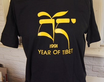 t shirt (vintage) 1991 Year of Tibet  (46 inches around chest)