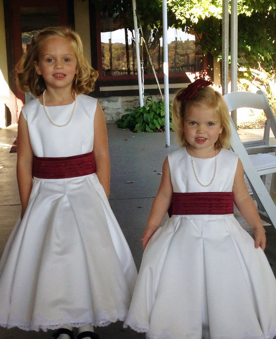 Flower Girl  Dress First Communion satin and lace custom made to order