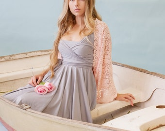 By the Sea~ Bridal Infinity Wrap Shawl, Stole, Bolero- Lace or Chiffon