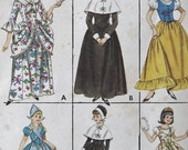 Vintage Halloween Costume Sewing Pattern -- 60s Sewing Pattern -- Puritan Colonial SpanishCostume -- Size 16 B36