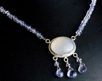 Periwinkle Blue Chalcedony Necklace