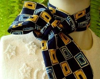 Womens Necktie Headband made from mens tie