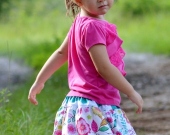 Bubble Skirt PDF pattern and tutorial - sizes 6months - 10yrs - Girl - By LittleKiwis Closet