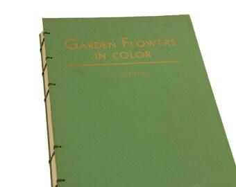 1939 GARDEN FLOWERS Vintage Sketch Notebook Journal
