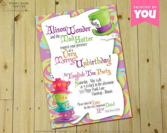 Alice In Wonderland Birthday Invites as beautiful invitations example
