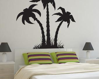 Vinyl Wall Art Decal Sticker Palm Trees Silhouette 1219m