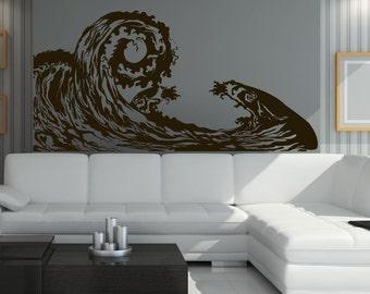 Vinyl Wall Art Decal Sticker Big Waves 1220m