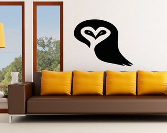 Vinyl Wall Decal Sticker Heart Owl OSAA1301m