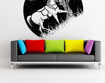 Vinyl Wall Decal Sticker Horse at Night OSAA1555s