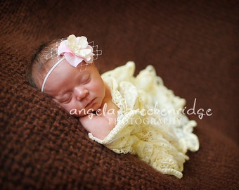 baby headband, pink baby headband, baby headbands, newborn headbands, newborn headband, vintage flower headband