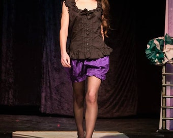 Bloomers Purple Victorian style Steampunk, Goth and Lolita