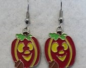 Halloween, Pumpkin Earrings, Halloween Earrings, Halloween Jewelry, Charm Earrings, Costume Jewelry, Fall, Autumn