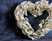 Pride and Prejudice Book Paper Wreath - Jane Austen Valentine's Day Heart Wreath