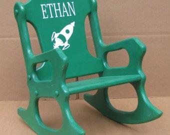 Child's Rocking Chair -Spaceship-John Deere Green - toddler