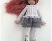 "Skirt - ""Taupe"" / Navy / Grey - Littlefee / Yo-SD"