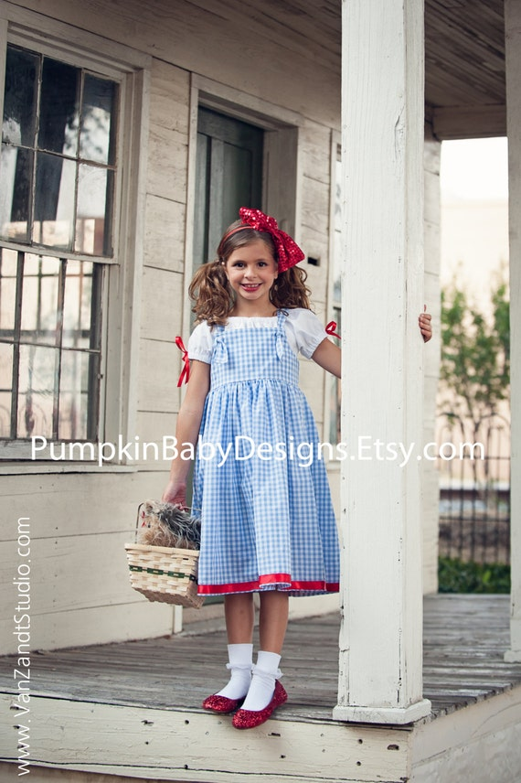 Dorothy Costume Dorothy Dress Wizard of Oz by pumpkinbabydesigns