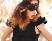 Fashion Shoulder pad Black leather epaulet Shoulder armour Edgy shoulder accessory 3D sculptural fashion