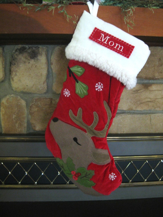 christmas stocking pottery barn luxe velvet stocking. Black Bedroom Furniture Sets. Home Design Ideas