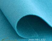 2mm Felt sheet 200x300mm - wool blend - dark turquoise - HB-L-632