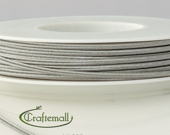 Soutache braid - Cellulose Acetate flat 3mm soutache cord - silver grey (Y1062) - 5 meters