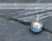 Something Blue - Something Blue Pearl - Something Blue Hand Stamped Pearl