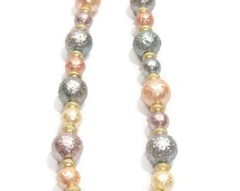 Vintagte Pastel Color Beaded Necklace