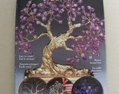 Glass Beaded Bonsai Tree Kit - Lavender Tree of Abundance 29413