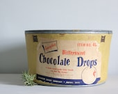 vintage round storage box / with lid / candy advertising