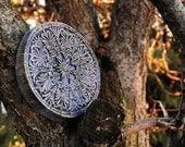 Ancient Greek Mandala Sculpture, Garden Art, Stone Sculpture, Outdoor Wall Art, Greek Art Wall Plaque