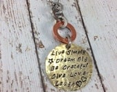 Live Simply, Dream Big, Be Grateful, Give Love, Laugh Necklace