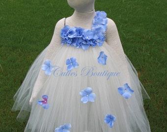 Periwinkle Flower Girl Dress