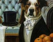 Dog Portrait Print  - Dog Art  - Animal Portrait - Victorian Dog -  Dog Dandy Portrait
