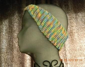 Crochet Headband, Pastel Earwarmer