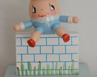 Humpty Dumpty Nursery Rhyme Decor item Figurine for Child or Baby Room