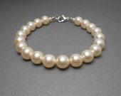 Pearl Bracelet With Cream Swarovski Crystal Pearls