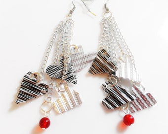 SALE Recycled Upcycled UPC Earrings Dangle Earring Teen Gifts Tween Girls Jewelry Trending Now Sale Jewelry R20